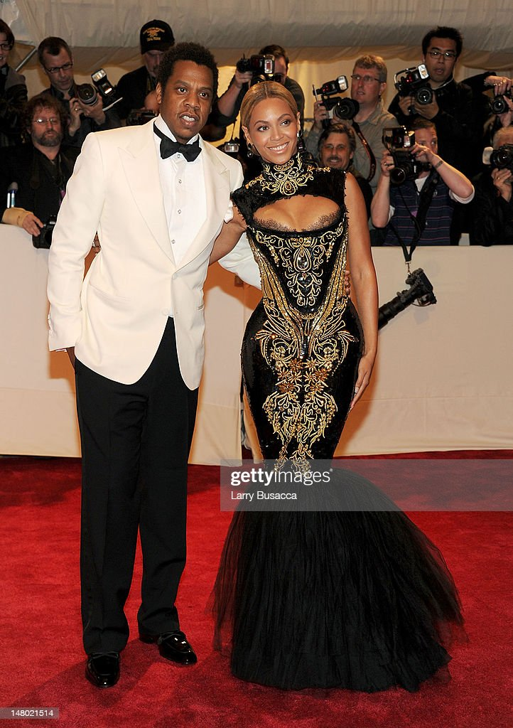 Musician <a gi-track='captionPersonalityLinkClicked' href=/galleries/search?phrase=Jay-Z&family=editorial&specificpeople=201664 ng-click='$event.stopPropagation()'>Jay-Z</a> and singer Beyonce attend the 'Alexander McQueen: Savage Beauty' Costume Institute Gala at The Metropolitan Museum of Art on May 2, 2011 in New York City.