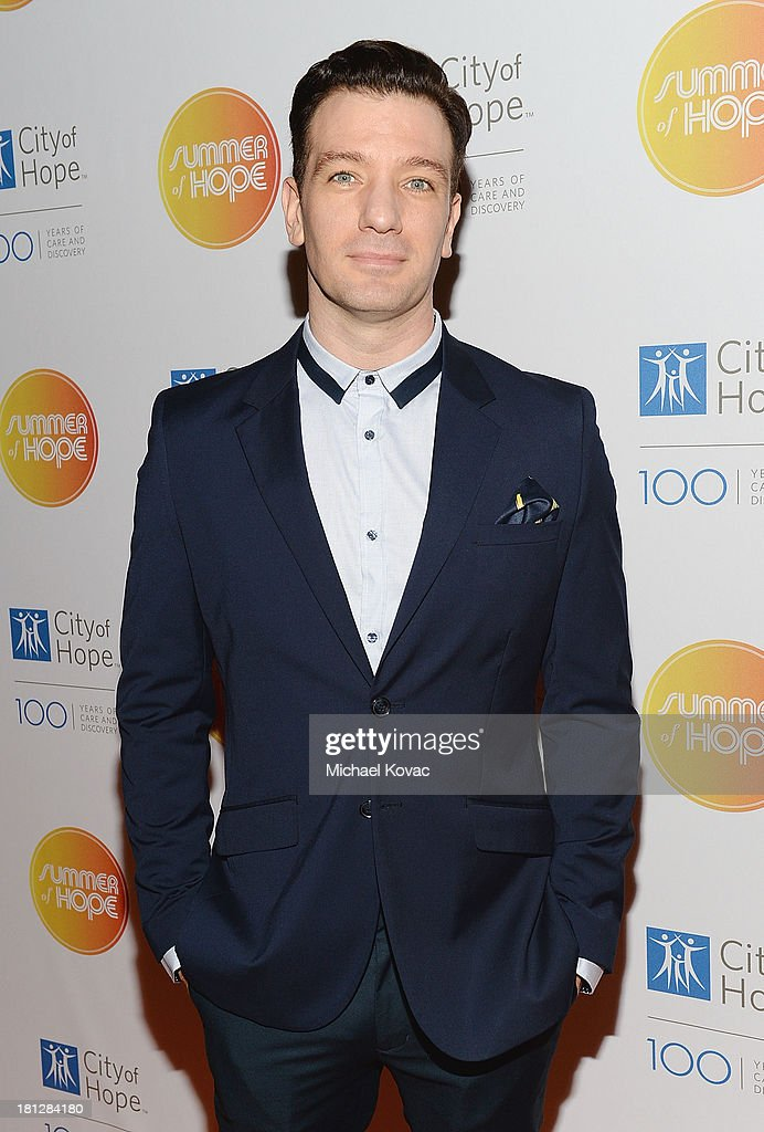 Musician <a gi-track='captionPersonalityLinkClicked' href=/galleries/search?phrase=JC+Chasez&family=editorial&specificpeople=209140 ng-click='$event.stopPropagation()'>JC Chasez</a> attends the City Of Hope Spirit Of Life Gala Honoring Rob Light on September 19, 2013 in Playa Vista, California.