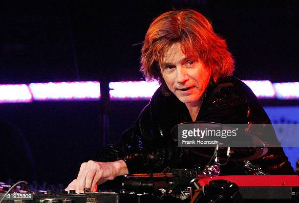 Musician Jean Michel Jarre performs live during a concert at the O2 World on November 8 2011 in Berlin Germany