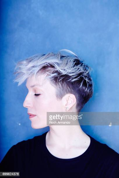 Musician Jeanne Added is photographed for Longueur d'Ondes Magazine on April 2 2015 in Paris France