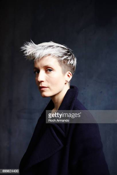 Musician Jeanne Added is photographed for Longueur d'Ondes Magazine on April 2 2015 in Paris France Published Image