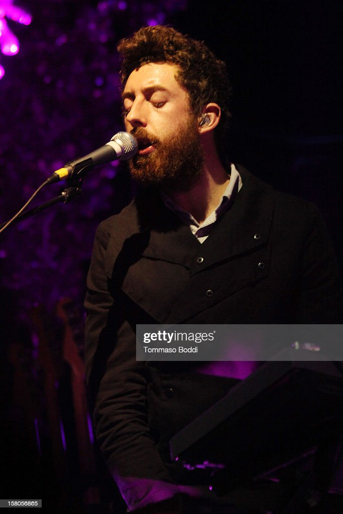 Musician Jeff Apruzzese of Passion Pit performs at the KROQ's Acoustic Christmas held at the Gibson Amphitheatre on December 9, 2012 in Universal City, California.
