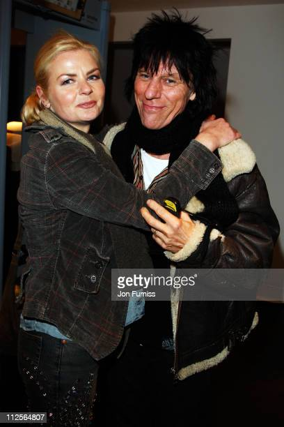 Musician Jeff Beck and guest attends the Led Zeppelin Tribute To Ahmet Ertegun concert held at the O2 Arena on December 10 2007 in London England