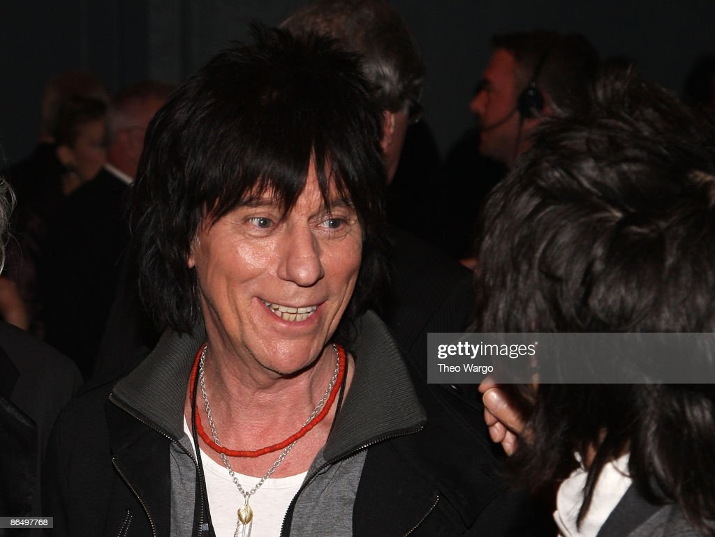 Musician Jeff Beck attends the 24th Annual Rock and Roll Hall of Fame Induction Ceremony at Public Hall on April 4, 2009 in Cleveland, Ohio.