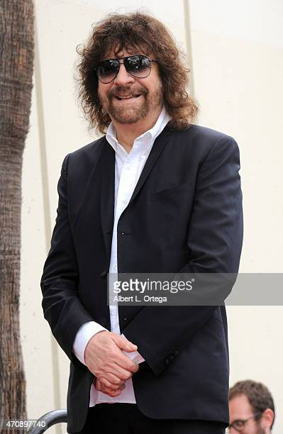 Musician Jeff Lynne Honored On The Hollywood Walk Of Fame on April 23 2015 in Hollywood California