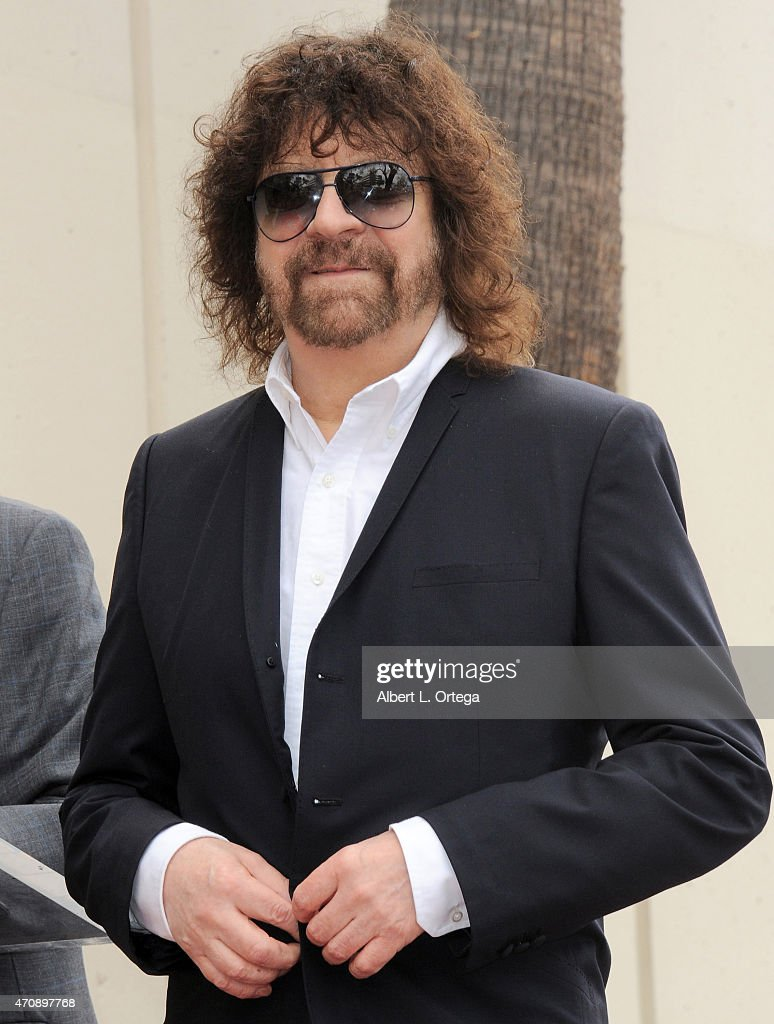 Musician Jeff Lynne Honored On The Hollywood Walk Of Fame on April 23, 2015 in Hollywood, California.