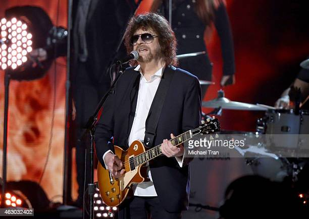 Musician Jeff Lynne performs onstage during The 57th Annual GRAMMY Awards at STAPLES Center on February 8 2015 in Los Angeles California