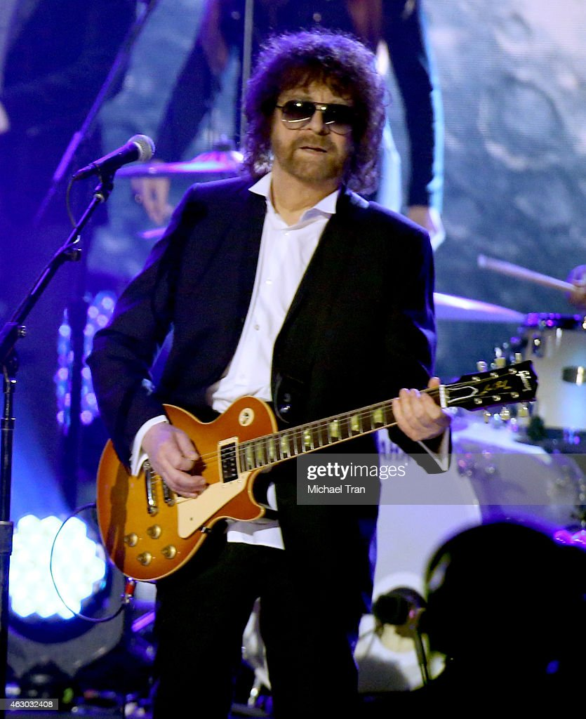 Musician Jeff Lynne performs onstage during The 57th Annual GRAMMY Awards at STAPLES Center on February 8, 2015 in Los Angeles, California.