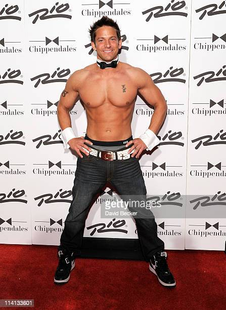 Musician Jeff Timmons of 98 Degrees arrives to perform with the Chippendales show at the Rio Hotel Casino on May 12 2011 in Las Vegas Nevada
