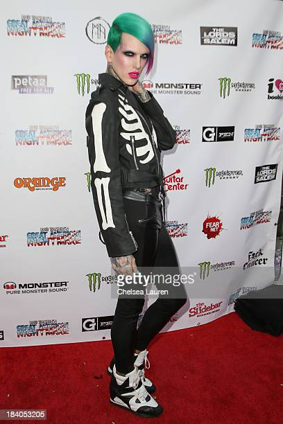 Musician Jeffree Star attends Rob Zombie's Great American Nightmare VIP opening night party at Pomona FEARplex on October 10 2013 in Pomona California