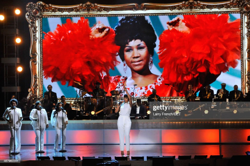 Musician Jennifer Hudson performs onstage at BET Honors 2014 at Warner Theatre on February 8, 2014 in Washington, DC.