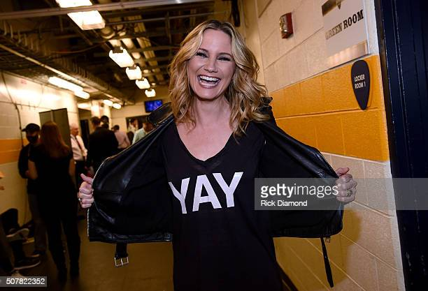 Musician Jennifer Nettles attends The 2016 NHL AllStar Game on January 31 2016 in Nashville Tennessee