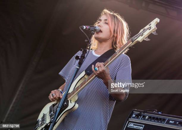 Musician Jenny Lee Lindberg of the band Warpaint performs during day 3 of Shaky Knees Festival at Centennial Olympic Park on May 14 2017 in Atlanta...