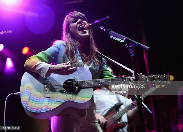 Musician Jenny Lewis performs onstage during day 1 of the 2014 Life is Beautiful festival on October 24 2014 in Las Vegas Nevada