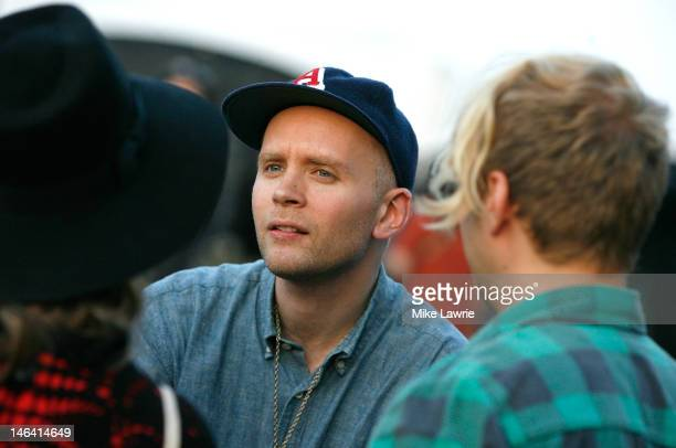Musician Jens Lekman speaks to fans after performing during Northside Festival 2012 Day 2 on June 15 2012 in the Brooklyn burough of New York City