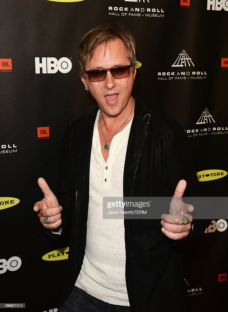 Musician <a gi-track='captionPersonalityLinkClicked' href=/galleries/search?phrase=Jerry+Cantrell&family=editorial&specificpeople=171509 ng-click='$event.stopPropagation()'>Jerry Cantrell</a> arrives at the 28th Annual Rock and Roll Hall of Fame Induction Ceremony at Nokia Theatre L.A. Live on April 18, 2013 in Los Angeles, California.