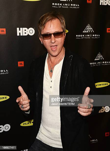 Musician Jerry Cantrell arrives at the 28th Annual Rock and Roll Hall of Fame Induction Ceremony at Nokia Theatre LA Live on April 18 2013 in Los...