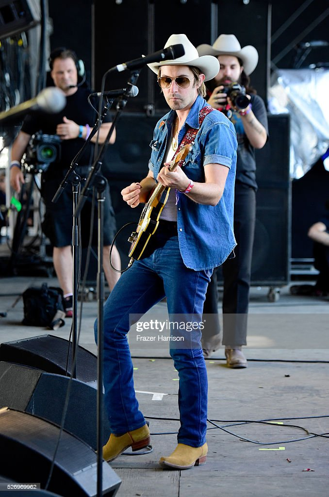 Musician Jess Carson of the band Midland performs onstage during 2016 Stagecoach California's Country Music Festival at Empire Polo Club on May 01, 2016 in Indio, California.