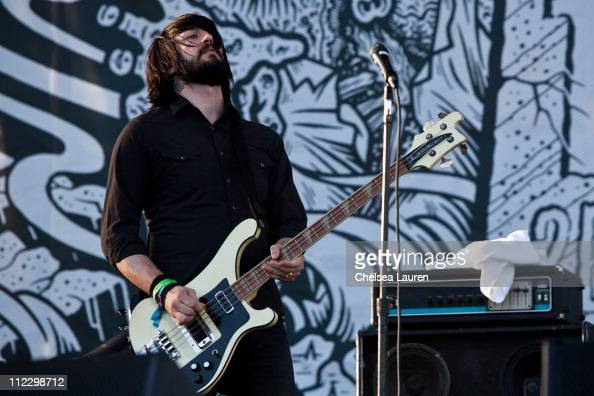 Musician Jesse F Keeler of Death From Above 1979 performs at day 3 of the 2011 Coachella Valley Music Arts Festival at The Empire Polo Club on April...