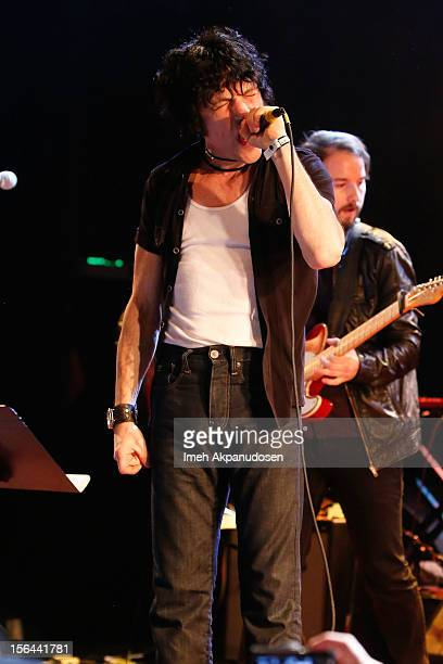 Musician Jesse Malin performs onstage singing 'You Wreck Me' at the first ever Jameson Petty Fest West at El Rey Theatre on November 14 2012 in Los...