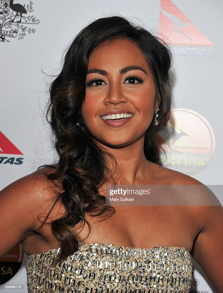 Musician Jessica Mauboy arrives for the G'Day USA Black Tie Gala held at at the JW Marriot at LA Live on January 12, 2013 in Los Angeles, California.