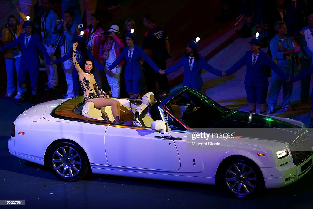 Musician Jessie J performs during the Closing Ceremony on Day 16 of the London 2012 Olympic Games at Olympic Stadium on August 12, 2012 in London, England.