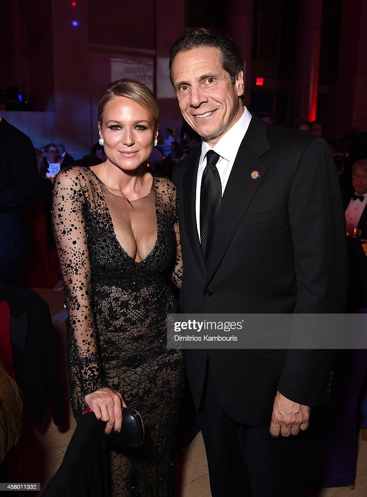 Musician Jewel (L) and honoree governor Andrew M. Cuomo attend the Elton John AIDS Foundation's 13th Annual An Enduring Vision Benefit at Cipriani Wall Street on October 28, 2014 in New York City.