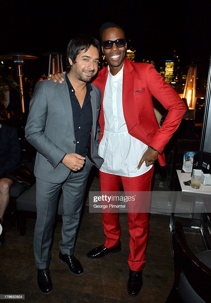 Musician Jian Ghomeshi and rapper Kardinal Offishall attend the Interview Magazine, Sundance Selects and Mongrel Media celebrate the TIFF premiere screening of 'Blue is the Warmest Color' during 2013 Toronto International Film Festival on September 5, 2013 in Toronto, Canada.