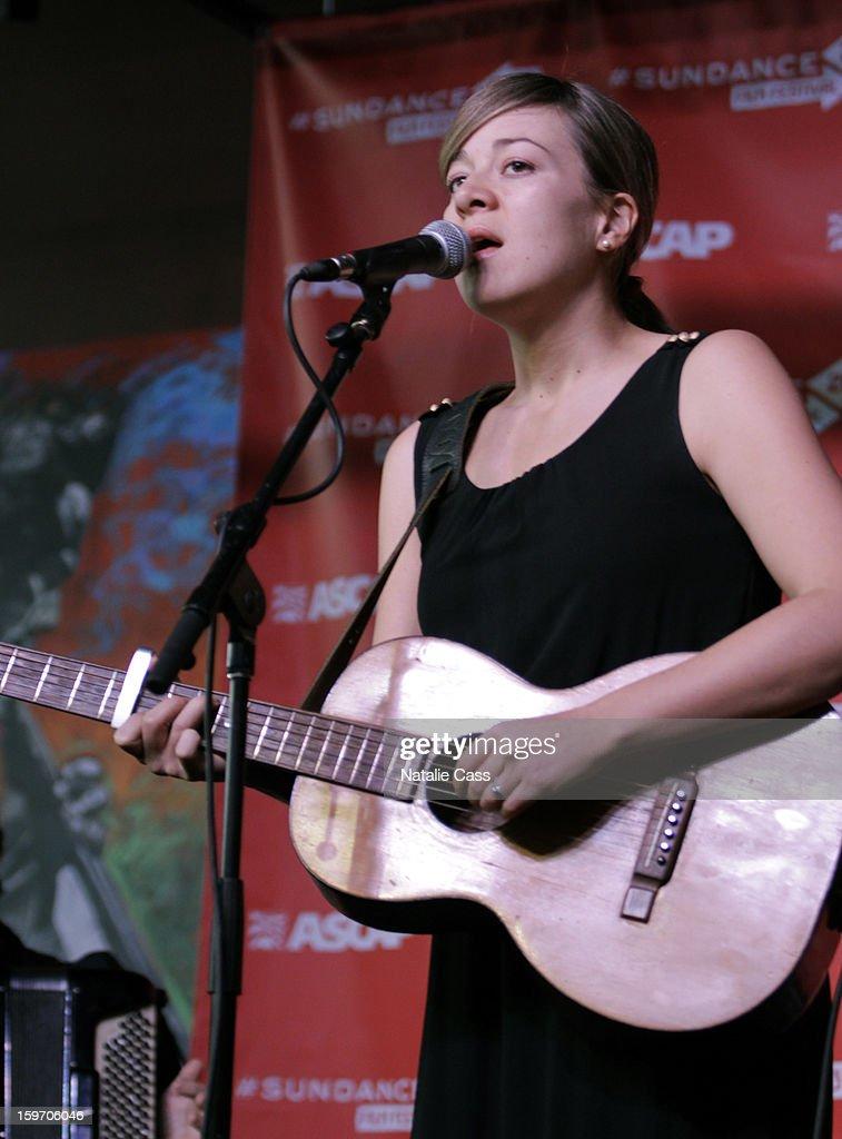 Musician Jill Barber attends ASCAP Music Cafe Day 1 at Sundance ASCAP Music Cafe during the 2013 Sundance Film Festival on January 18, 2013 in Park City, Utah.