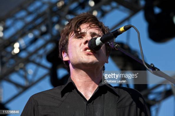 Musician Jim Adkins of Jimmy Eat World performs at day 3 of the 2011 Coachella Valley Music Arts Festival at The Empire Polo Club on April 17 2011 in...