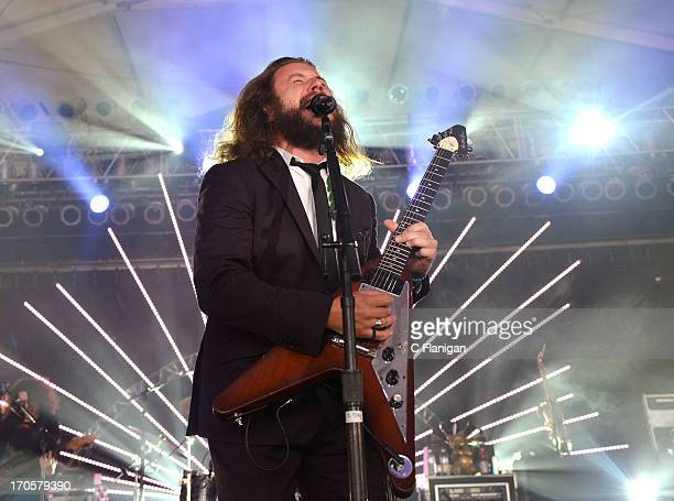 Musician Jim James of My Morning Jacket performs during the 2013 Bonnaroo Music Arts Festival on June 14 2013 in Manchester Tennessee