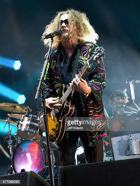 Musician Jim James of My Morning Jacket performs on the What Stage during Day 3 of the 2015 Bonnaroo Music And Arts Festival on June 13 2015 in...