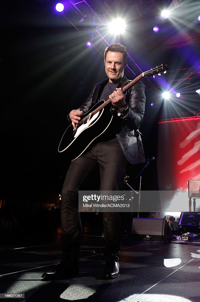 Musician Jimi Westbrook of Little Big Town performs onstage at the All Star Jam during the 48th Annual Academy Of Country Music Awards at the MGM Grand Hotel/Casino on April 7, 2013 in Las Vegas, Nevada.