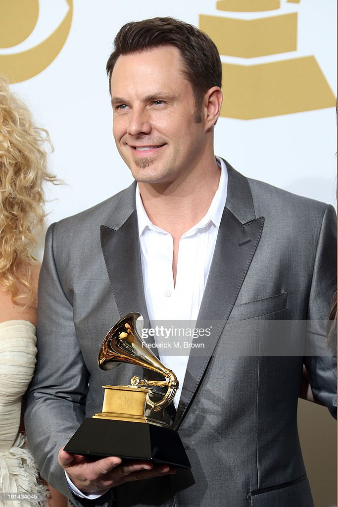 Musician Jimi Westbrook, winner Best Country Duo/Group Performance for 'Pontoon', pose in the press room at the 55th Annual GRAMMY Awards at Staples Center on February 10, 2013 in Los Angeles, California.