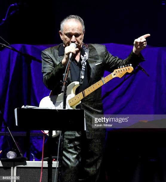 Musician Jimmie Vaughn performs at The Forum on September 18 2017 in Inglewood California