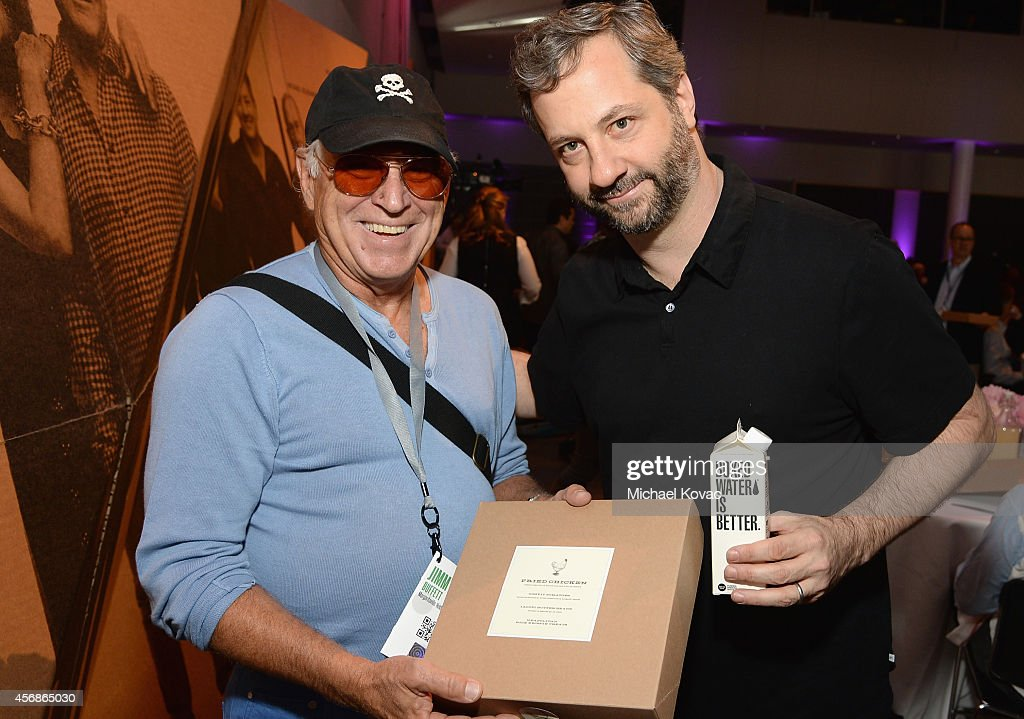 Musician Jimmy Buffett and fillmmaker Judd Apatow attend the Vanity Fair New Establishment Summit at Yerba Buena Center for the Arts on October 8...