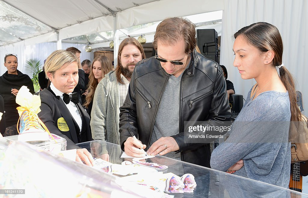 Musician Jimmy De Martini of the Zac Brown Band attends the GRAMMY Gift Lounge during the 55th Annual GRAMMY Awards at STAPLES Center on February 9, 2013 in Los Angeles, California.