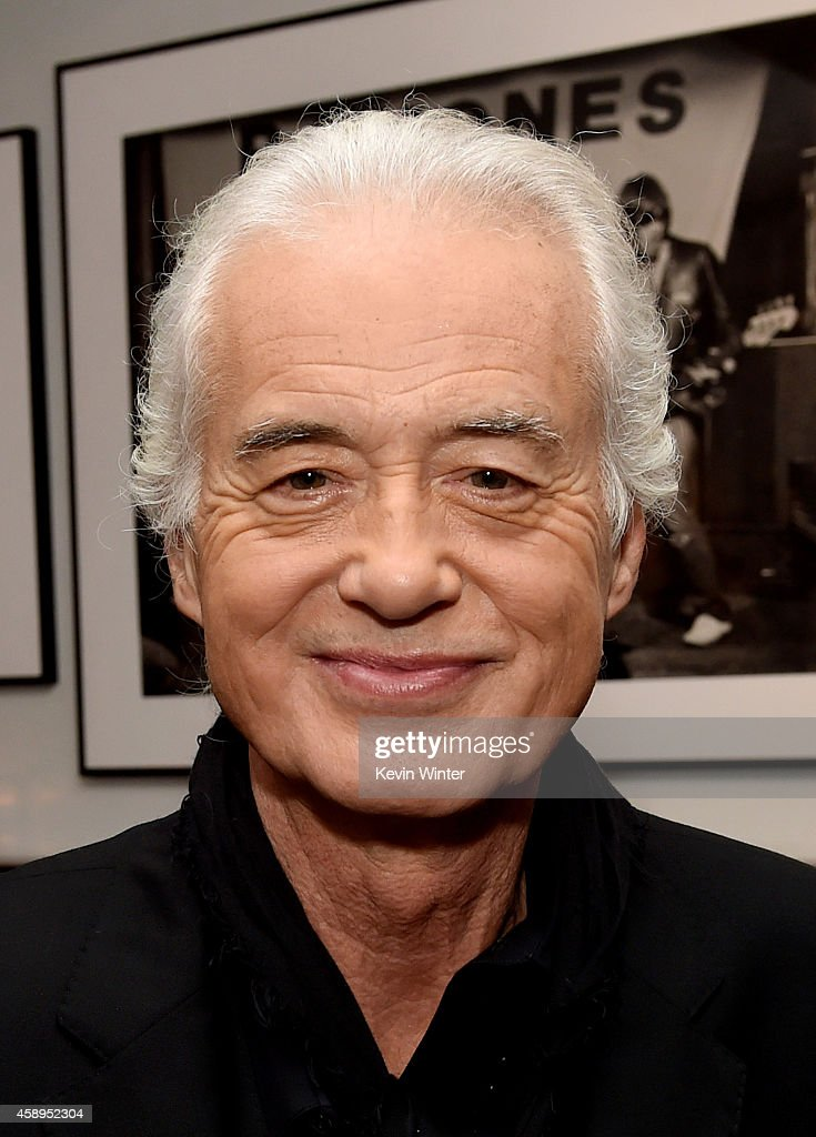 Musician Jimmy Page appears at a private reception and dinner for Jimmy Page to celebrate his new autobiography 'Jimmy Page by Jimmy Page' at the Sunset Marquis Hotel and Villas on November 13, 2014 in West Hollywood, California.