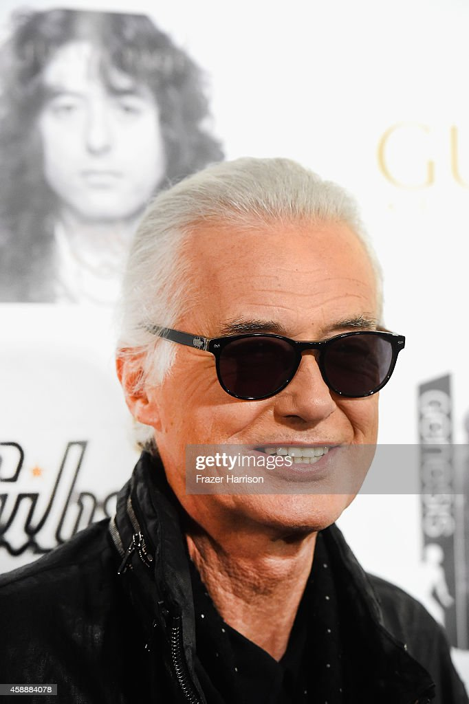 Musician Jimmy Page arrives at An Evening With Jimmy Page and Chris Cornell in Conversation at Ace Hotel on November 12, 2014 in Los Angeles, California.