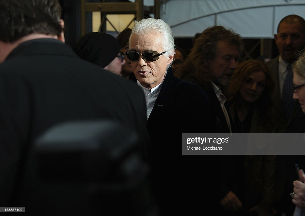Musician Jimmy Page attends the 'Led Zeppelin: Celebration Day' premiere at the Ziegfeld Theater on October 9, 2012 in New York City.