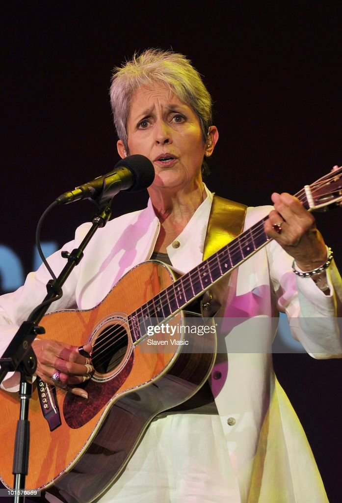 Musician Joan Baez performs at the 2010 Children's Health Fund Benefit Gala at The Hilton New York on June 2, 2010 in New York City.