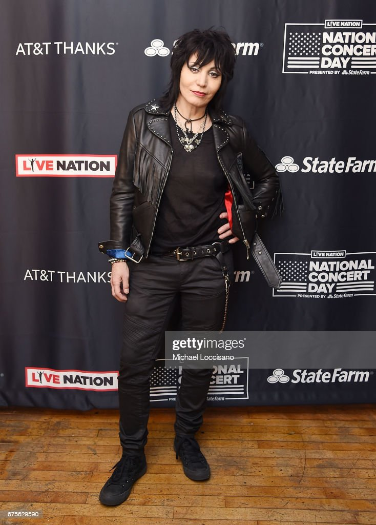 Musician Joan Jett attends Live Nation's celebration of The 3rd Annual National Concert Day at Irving Plaza on May 1, 2017 in New York City.