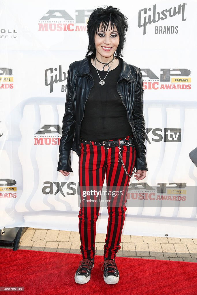 Musician <a gi-track='captionPersonalityLinkClicked' href=/galleries/search?phrase=Joan+Jett&family=editorial&specificpeople=213317 ng-click='$event.stopPropagation()'>Joan Jett</a> attends the 2014 Gibson Brands AP Music Awards at the Rock and Roll Hall of Fame and Museum on July 21, 2014 in Cleveland, Ohio.