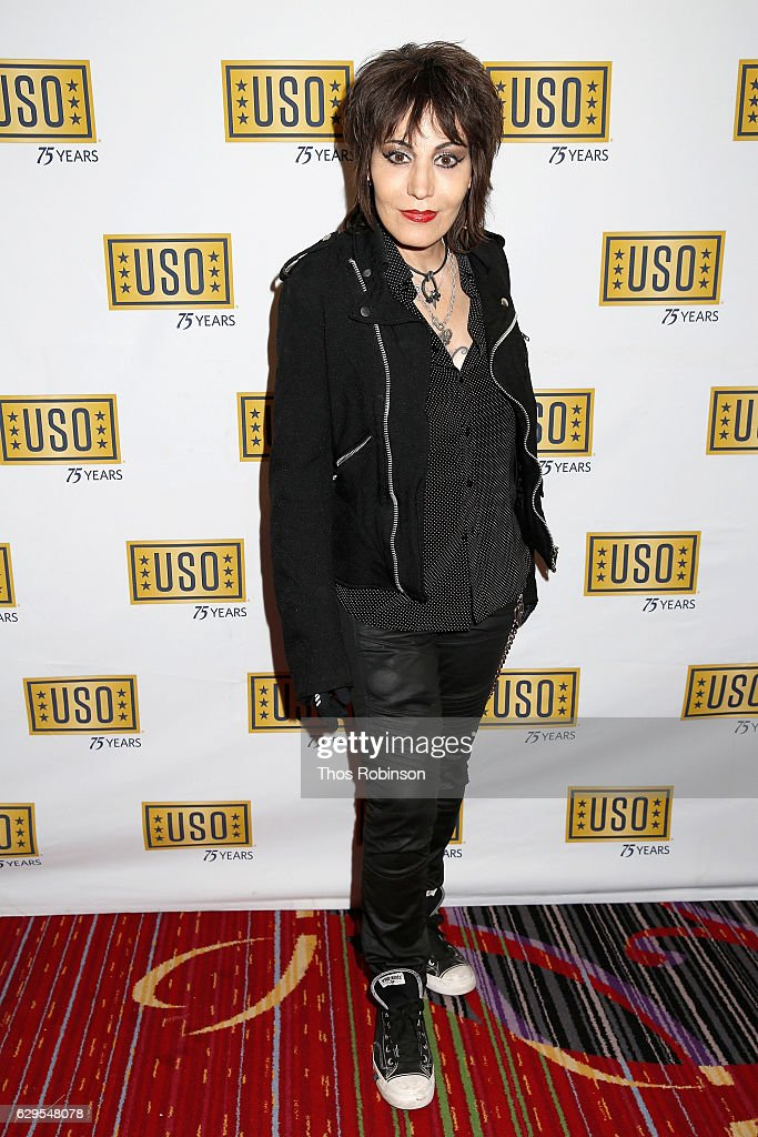 Musician Joan Jett attends the USO 75th Anniversary Armed Forces Gala & Gold Medal Dinner at Marriott Marquis Times Square on December 13, 2016 in New York City.