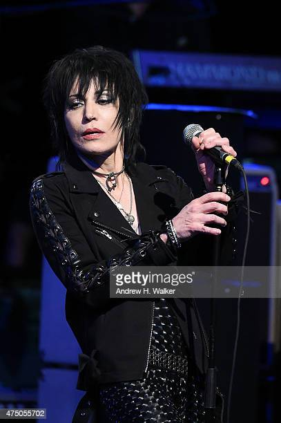 Musician Joan Jett performs at the 11th Annual Musicares Map Fund Benefit concert at Best Buy Theater on May 28 2015 in New York City