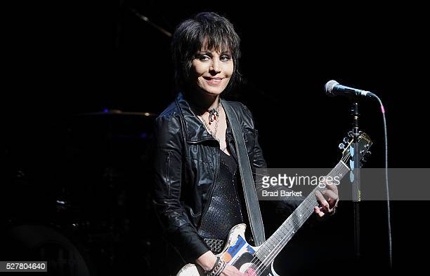 Musician Joan Jett performs at the 2nd Annual National Concert Day Show at Irving Plaza on May 3 2016 in New York City
