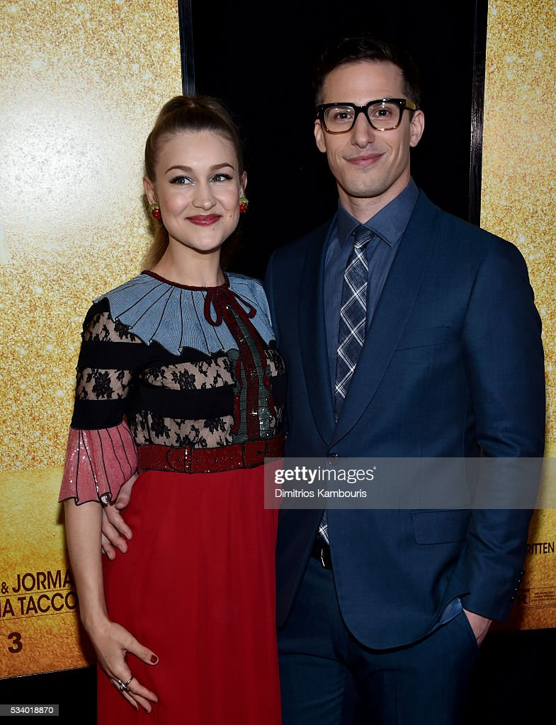 Musician Joanna Newsom and actor Andy Samberg attend 'Popstar: Never Stop Never Stopping' premiere at AMC Loews Lincoln Square 13 theater on May 24, 2016 in New York City.