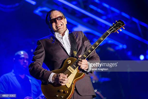 Musician Joe Bonamassa performs on stage at Humphrey's Concerts By The Bay on August 26 2015 in San Diego California