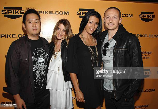 Musician Joe Hahn and Singer Chester Bennington of Linkin Park and guests attend the Spike TV's 2nd Annual 'Guys Choice' Awards on May 30 2008 at the...