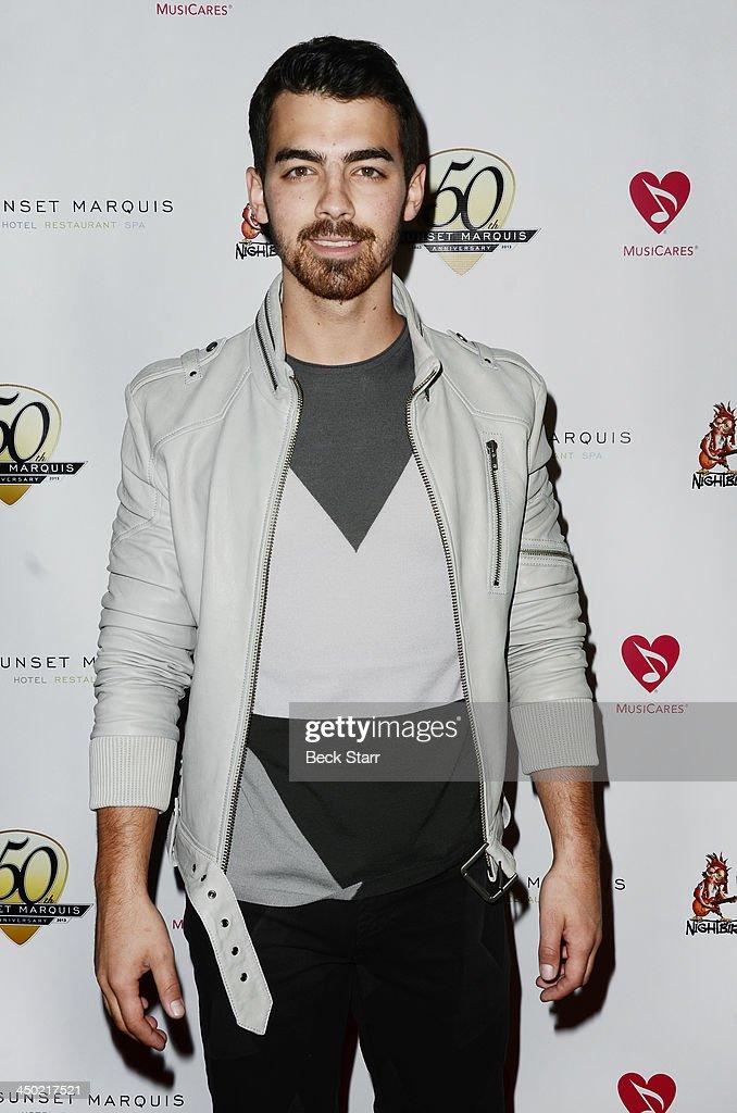 Musician Joe Jonas arrives at Sunset Marquis Hotel 50th anniversary Birthday bash at Sunset Marquis Hotel & Villas on November 16, 2013 in West Hollywood, California.